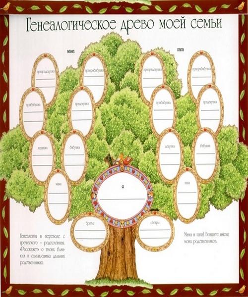Как красиво сделать генеалогическое дерево